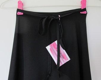 Black ballet wrap skirt