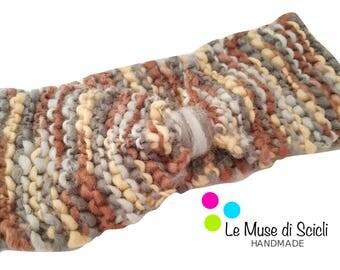 Winter colors bow Headband
