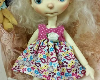 OOAK Summer Fun Outfit for Sprocket bjd doll.