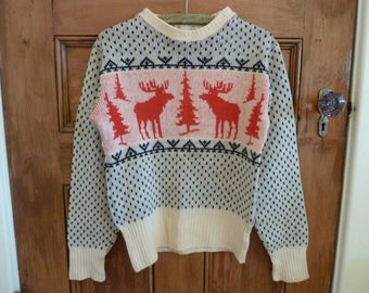 Vintage Rockabilly ski sweater 1940'/50'