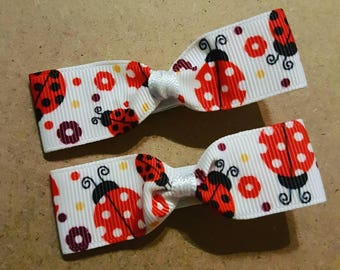 Ladybug Girls/Toddler/Baby Hair Bow Clips