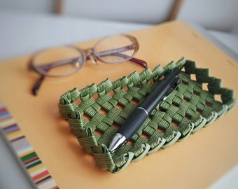 desk tray, desk organizer, green, Japanese, catchall tray, valet tray, gift, eco friendly