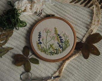 """Wall embroidery """"Spring meadow"""""""