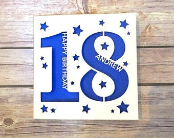 Personalised 18th Birthday Card, 18th Daughter, 18th Son, 18th Niece, 18th Nephew, 18th Gift, Eighteenth Card, Happy 18th, Lasercut Card