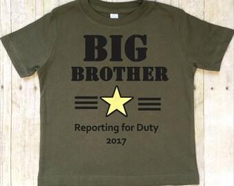 Big Brother Shirt-Big Brother T-Shirt-Pregnancy Announcement Shirt-Sibling Shirt-New Baby Announcement Shirt-Military-Camo Shirt