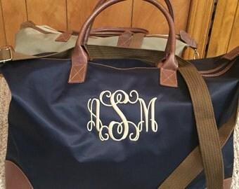 Monogram Weekender-Canvas Weekender Bag-Personalized Weekender-Monogram Overnighter-Weekender-Canvas Weekender Bag-Gift for Her-Gift for Mom