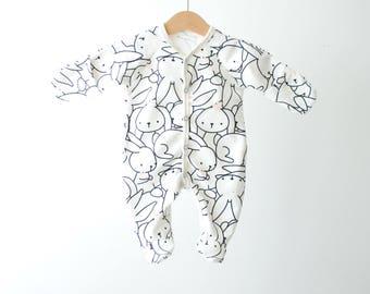 Bunny baby Sleepsuits, baby onepiece, Sleepsuits, baby sleepware
