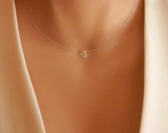 dainty moonstone necklace tiny moonstone necklace tiny moonstone pendant tiny necklace gold cross necklace circle necklace minimal necklace