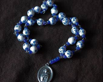 Little Flower Chaplet - Blessed Mother blue