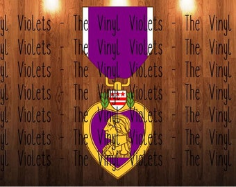 Purple Heart Medal SVG