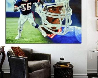 Lawrence Taylor - LT Giants # 56 CANVAS Print 28 x 22 - New York Giants