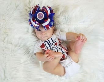 All About That Base Red and Blue Glitter Texas Rangers Onesie or T Shirt