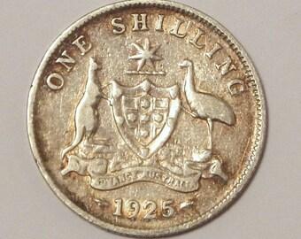 1925 Australia Silver Shilling