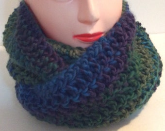 Multicoloured scarf, Chunky scarf, infinity scarf, Bulky Scarf, Winter scarf, Gift for her, Women's fashion, Bulky infinity scarf,