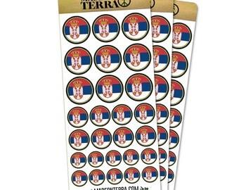 Flag Of Serbia Removable Matte Sticker Sheets Set