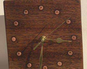 Recycled mahogony clock