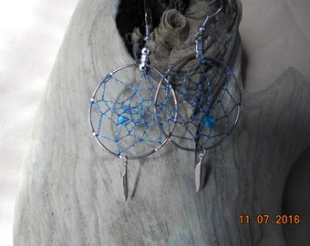 Dream Catcher Earrings Made With Turquoise!