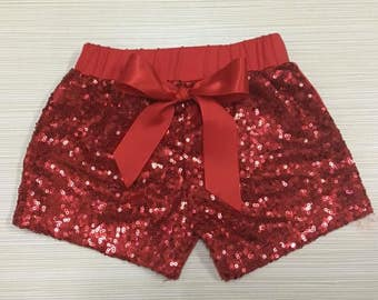 Glitter Shorts with Bow