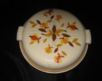 Hall Jewel Tea Autumn Leaf Casserole with Lid// 2 quart// Hall Superior Quality// Covered Casserole Dish// Covered Casserole Dish, 398C