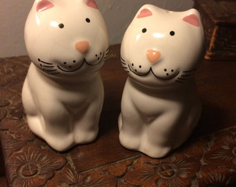Vintage Made in Brazil Cat Salt and Pepper Shakers