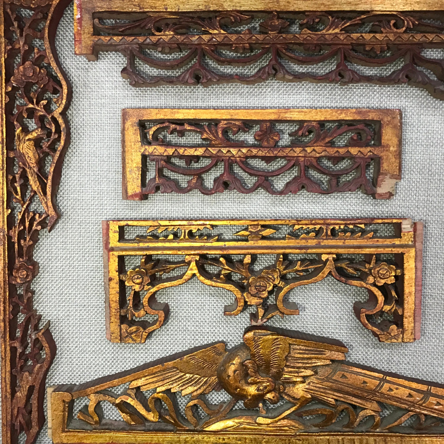Antique Carved Wood Panels wholesale, sell in bulk total 5 PCS low price.  Chinese - Carved Wood Panel Etsy