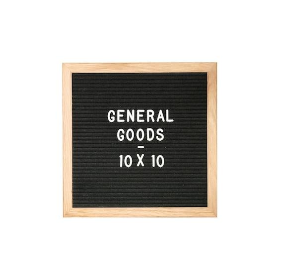 letter board letter set with oak frame black felt 10x10. Black Bedroom Furniture Sets. Home Design Ideas
