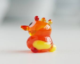 Glass Sculpture, Fused Glass Art, Glass Figurine, Glass Animal Figurine, Mini Chicken Glass Figurine, Mini Glass Figurine, Mini Glass Art