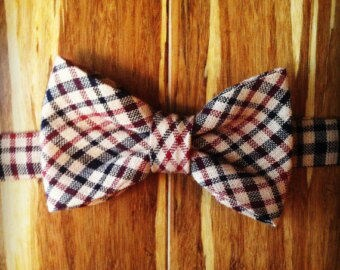 Newborn/Infant and Toddler/Child's Plaid Bowtie