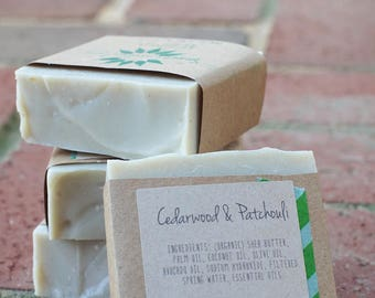 Cedarwood & Patchouli Handmade Soap - Organic