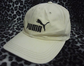Vintage PUMA Embroidered Spellout Logo Casual Snapback Cap Hat