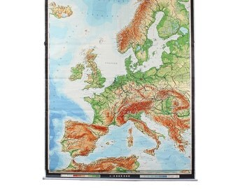 Vintage Giant Wall Map of Europe