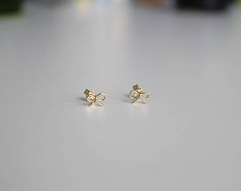Mini Gold Plated Silver Bows