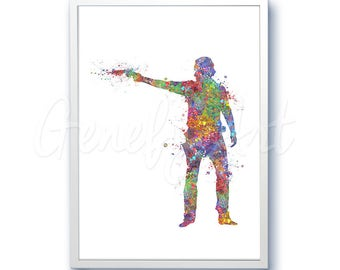 The Walking Dead Poster Watercolor Art - Nick - Wall Decor - Watercolor Painting - Watercolor Art