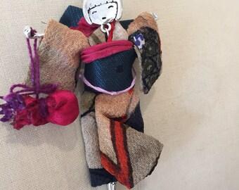 kimono girl pendant