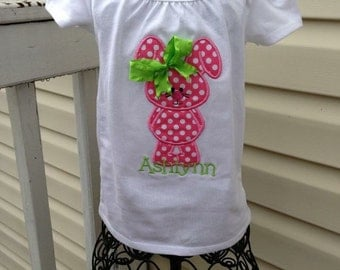 Custom embroidered easter shirt- BUNNY with NAME FREE