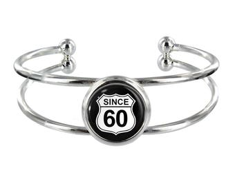 Since 60 Silver Plated Bangle in Organza Gift Bag