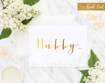 To My Husband, Husband Wedding Card, Day of Wedding Card, To My Husband Card, Husband Card, Foil Wedding Card, Foil Card, Wedding Stationary