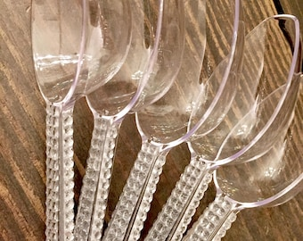Set of 5 Plastic Candy Scoops with Rhinestones