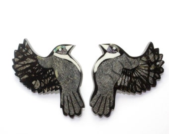 Vintage 80's Sparrow Bird Earrings