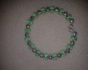 Light Green and Silver bracelet