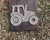 Tractor String Art (Cream)