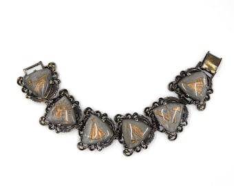 Fantastic American Indian Intaglio Bracelet