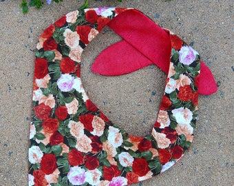 Rose Floral Reversible Pet Bandana