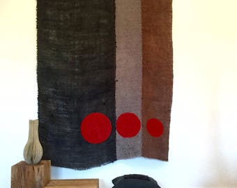 kakemono - wall decoration - curtain - red circles