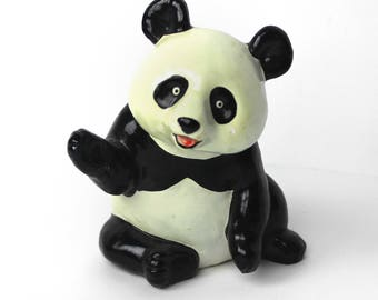 Vintage Panda Bear Coin Bank Made in Japan by Good Grief