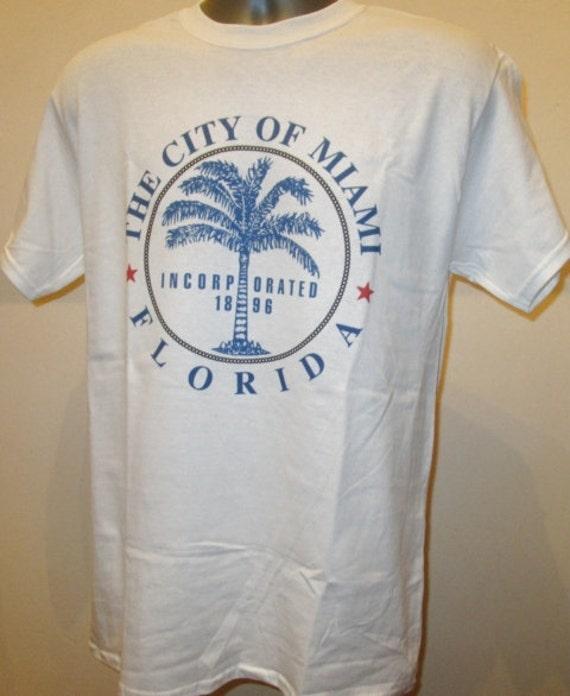 The city of miami florida t shirt unisex fashion apparel for Miami t shirt printing