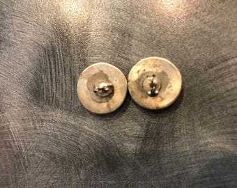 Stud Earrings wrapped in sterling.
