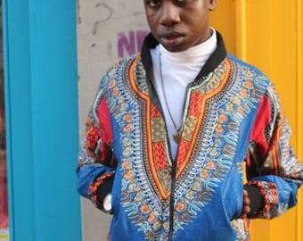 Bomber Jacket Dashiki Jacket African Bomber Jacket Black Panther African Clothing Ankara Clothing Festival Jacket Festival Clothing Bomber