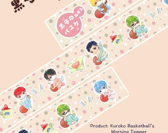 Anime Washi Tape  Kuroko Basketball's morning temper,scrapbooking stickers,DiY,Paper Decorative masking Tape