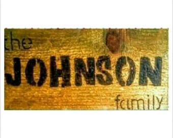 Woodburned Signs - Woodburn Family Name Sign - Woodburned Home Decor - Custom Woodburned Name Sign - Woodburning Art - Wood Wall Art